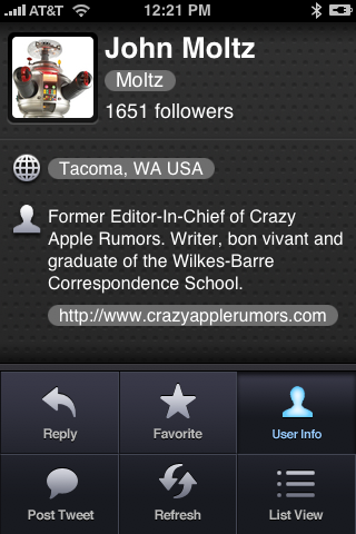 Twitterrific for the iPhone